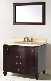 Suneli Loira Series Italian Elegance Walnut Single Bathroom Vanity 8703 - discontinued
