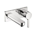 Hansgrohe 31163001 Metris S Wall Mounted Bathroom Faucet - Chrome