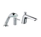 "Grohe 32232 000 Essence 1/2"" 3-Hole Bathtub Combination - Chrome"