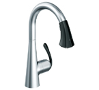 Grohe 32298 KD0 Ladylux3 Cafe Single Lever Kitchen Faucet - Soft Black