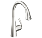 Grohe 32298 SDE Ladylux3 Cafe Single Lever Kitchen Faucet - Stainless Steel