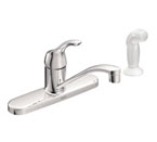Moen Adler Chrome One-Handle Low Arc Kitchen Faucet - CA87551