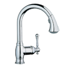 Grohe 33870 00E Bridgeford Single Lever Kitchen Faucet - StarLight Chrome