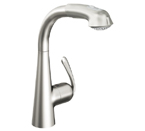 Grohe 33893 SDE Ladylux3 Plus Single Lever Kitchen Faucet - Stainless Steel