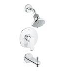 Grohe 35007 002 Pressure Balance Valve Bath Combination - Chrome