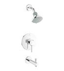 Grohe 35009 001 Concetto Pressure Balance Valve Bath Combination - Chrome