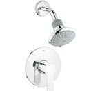 Grohe 35023 002 Eurostyle Cosmopolitan Pressure Balance Valve Shower Combination - Chrome