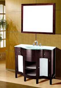 Suneli Umberto Series Italian Elegance Walnut Single Bathroom Vanity 8421 - discontinued