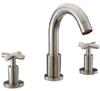 Dawn AB03 1513 3 Hold Widespread Lavatory Faucet with Cross Handles Brushed Nickel