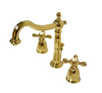 Kingston Brass CC57L2 Vintage Widespread Lavatory Faucet - Polished Brass