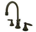 Kingston Brass KS2985GL Georgian Widespread Lavatory Faucet with Brass Pop-Up - Oil Rubbed Bronze