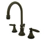 Kingston Brass KS2985GL Georgian Widespread Lavatory Faucet with Brass Pop-Up - Oil Rubbed Bronze