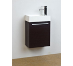 "18"" Small Wenge Modern Bathroom Vanity Set"