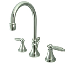 Kingston Brass KS2981GL Georgian Widespread Lavatory Faucet with Brass Pop-Up - Polished Chrome