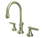 Kingston Brass KS2988GL Georgian Widespread Lavatory Faucet with Brass Pop-Up - Satin Nickel