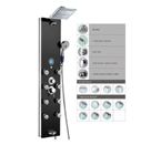 "Blue Ocean 52"" Aluminum SP787392B Shower Panel Tower with Rainfall Shower Head, 8 Multi-functional Nozzles"