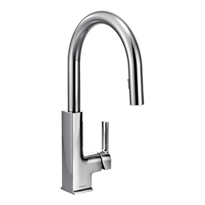 Moen STo One Handle High - Arc Pulldown Kitchen Faucet in Chrome S72308