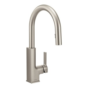 Moen STo One Handle High - Arc Pulldown Kitchen Faucet in Spot Resist Stainless S72308SRS