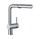 Blanco 441404 Linus Satin Nickel Pullout Faucet W/ Dual Spray