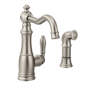 Moen Weymouth One Handle High - Arc Kitchen Faucet in Spot Resist Stainless S72101SRS
