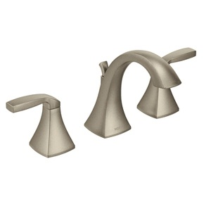Moen Voss Two Handle High - Arc Bathroom Faucet in Brushed Nickel T6905BN