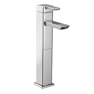 Moen 90 Degree One Handle High - Arc Vessel Bathroom Faucet in Polished Chrome S6711
