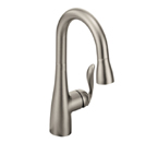 Moen Arbor Spot Resist Stainless One Handle High Arc Pulldown Single Mount Bar Faucet - 5995SRS
