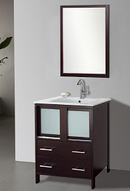 "Suneli Elba Series Italian Elegance Walnut Single bathroom Vanity 8710-24"" - discontinued"