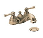 Moen Kingsley Antique Bronze Two Handle Low Arc Bathroom Faucet - 6101AZ