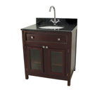 Elegant Home Fashions Celebrity Collection Bathroom Vanity with Faucet Set - Espresso