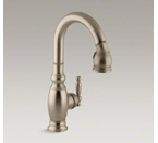 "Kohler K-691-BV Vinnata Pull Down 15-1/8"" Spout and Lever Handle - Vibrant Brushed Bronze"