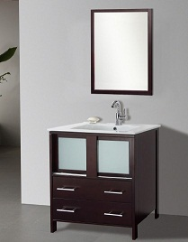 Suneli Elba Series Italian Elegance Walnut Single bathroom Vanity 8710-30""