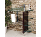 Contemporary Glass Vanity and Faucet and Sink