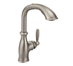 Moen Brantford Classic Stainless One Handle High Arc Pullout Kitchen Faucet - 7285CSL