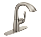Moen Arbor Spot Resist Stainless One Handle High Arc Pullout Kitchen Faucet - 7294SRS