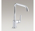 "Kohler K-7507-CP Purist Single Hole Kitchen Sink Faucet with 8"" Spout - Polished Chrome"