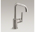 "Kohler K-7509-VS Purist Single Hole Kitchen Sink Faucet with 6"" Spout - Vibrant Stainless"