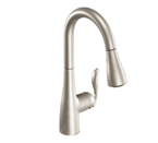Moen Arbor Spot Resist Stainless One Handle High Arc Pulldown Kitchen Faucet - 7594SRS