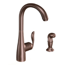 Moen Arbor Oil Rubbed Bronze One Handle High Arc Kitchen Faucet - 7790ORB