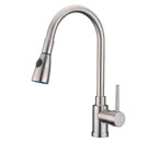 Alpha International 78-599 Brushed Chrome Pull Down Spray Kitchen Faucet