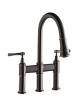 Elkay Brass Explore Dual Handle Pull - Down Bridge Kitchen Faucet LKEC2037