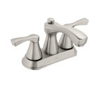 Moen Belmont Spot Resist Brushed Nickel Two Handle Low Arc Bathroom Faucet - 84902SRN
