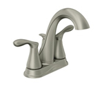 Moen Varese Spot Resist Brushed Nickel Two Handle High Arc Bathroom Faucet - 84948SRN