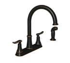 Moen Solidad Mediterranean Bronze Two Handle High Arc Kitchen Faucet - 87015BRB