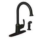 Moen Bayhill Mediterranean Bronze One Handle High Arc Kitchen Faucet - 87301BRB