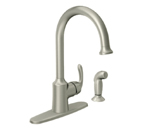Moen Bayhill Spot Resist Stainless One Handle High Arc Kitchen Faucet - 87301SRS