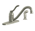 Moen Banbury Spot Resist Stainless One-Handle Low Arc Kitchen Faucet - 87690SRS