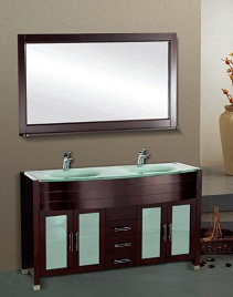 Suneli Caggiano Series Italian Elegance Walnut Double bowl Bathrom Vanity 8901 - discontinued