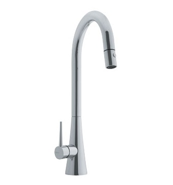 Franke FF2580 Pull Down Kitchen Faucet Satin Nickel 115.0066.592