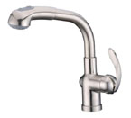 Alpha International 91-566 Brushed Chrome Pull Down Spray Kitchen Faucet